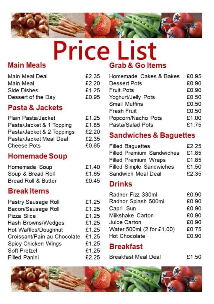 IVC Price List