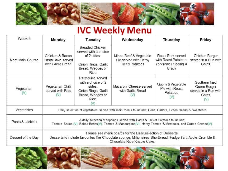 IVC Weekly Menu Cycle Week 3